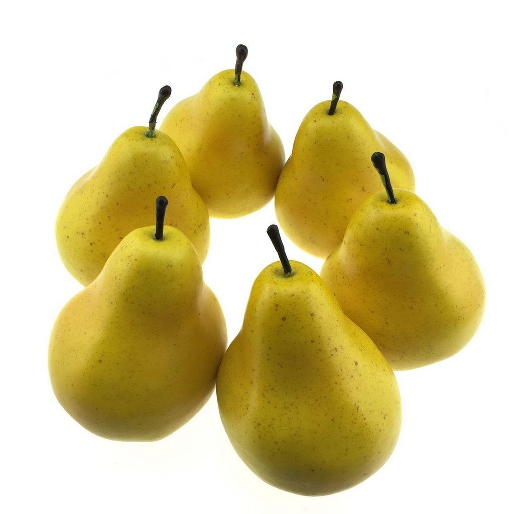 Gold J-Rijzen 6pcs Artificial Apples Fake Apples Artificial Fruits Vivid Apples for Home Fruit Shop Supermarket Desk Office Restaurant Decorations Or Props
