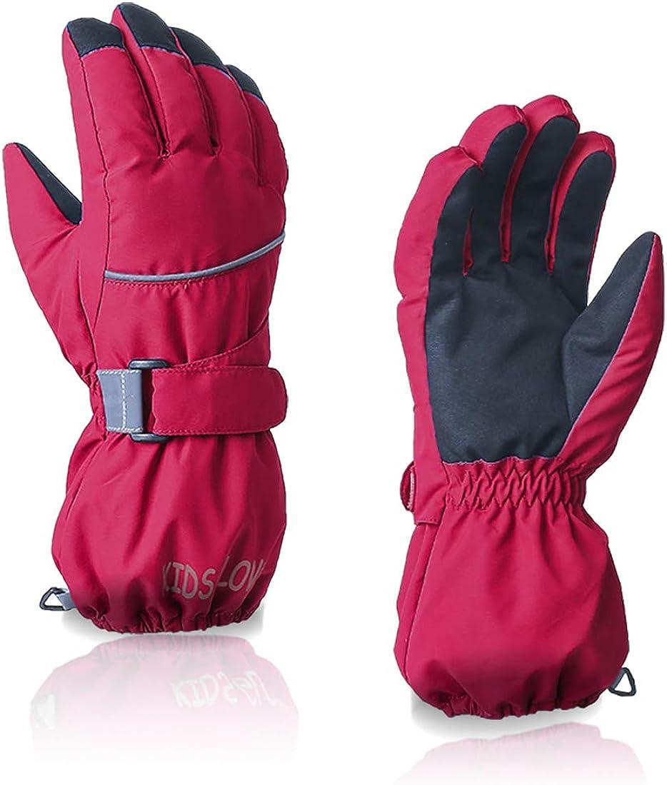 LoveKids Winter Snow Gloves Waterproof Warm for Boys and Girls Teens Women Men