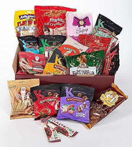 Russian-Box - Die russische Snack Box - 20 typisch russische Süßigkeiten und Snacks in einer Box
