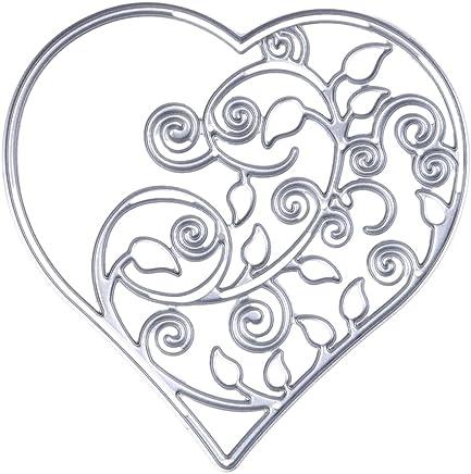 Demiawaking, fustella per stencil, a forma di cuore, per fai da te, scrapbooking, biglietti, decorazioni 01