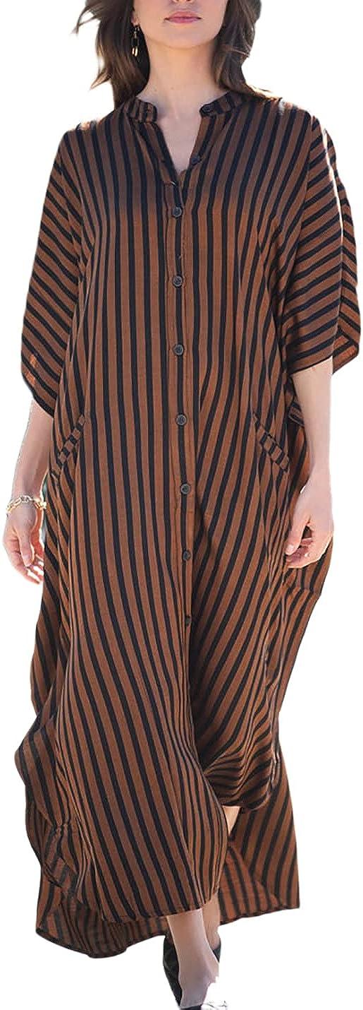 AILUNSNIKA Womens Plus Size Caftan Swimsuit Cover Up Long Turkish Beach Kaftan Dress