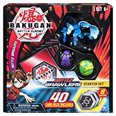 UNBOX AND PLAY: Everything you need to roll into action is inside the Battle Brawlers Starter Set. Take your three included Bakugan into battle and power them up with your BakuCores and 40-card deck (customized to work best with the included Bakugan)...