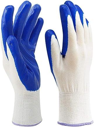 ニトリルコーティング手袋保護用保護手袋オイルとスキッドに耐える機械的メンテナンス作業に使用黒いナイロン柔軟で SHWSM