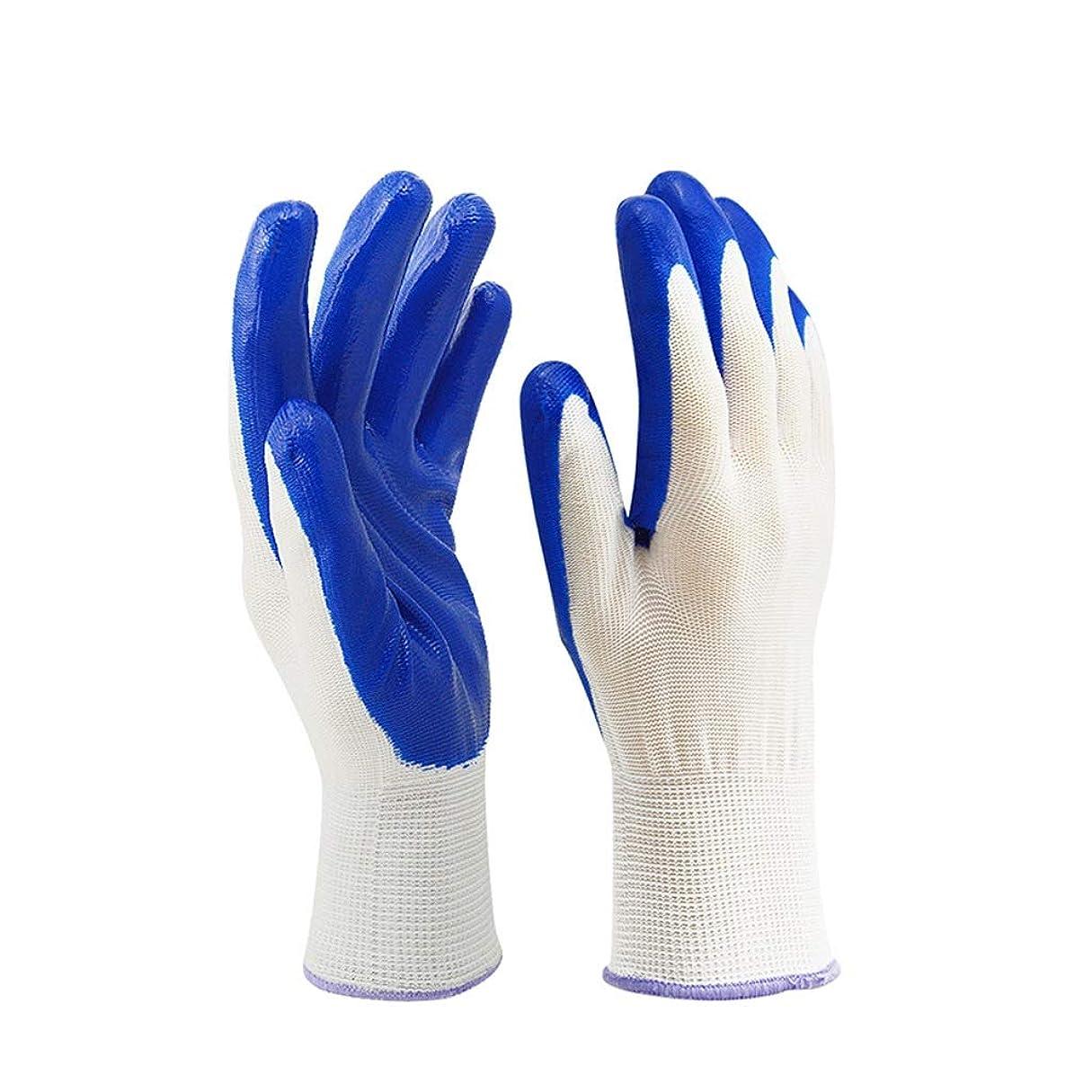 セラー親密な叙情的なニトリルコーティング手袋保護用保護手袋オイルとスキッドに耐える機械的メンテナンス作業に使用黒いナイロン柔軟で SHWSM