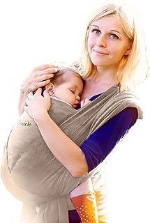 婴儿包裹背带 - SnugglyChuck 的 Ergo 婴儿背带 - 婴儿背带、哺乳罩和婴儿背带和婴儿背带 - 柔软符合人体工程学的弹性完美婴儿淋浴礼品(灰色)