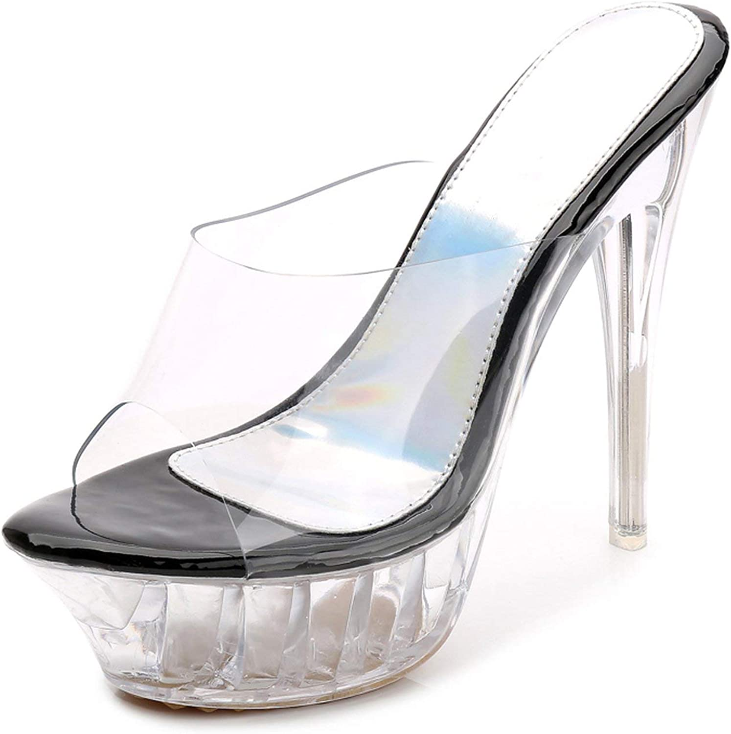 Transparent Thin High Heels Sandals Ladies Casual Sandals Slippers Women Fashion Crystal shoes