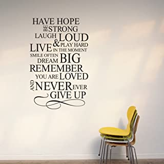 Newsee Decals Life Mottos -Vinyl Wall Lettering Stickers Quotes and Sayings Home Art Decor Decal