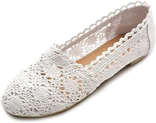 Ollio Womens Shoe Lace Ballet Breathable Flat