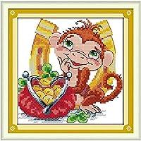 クロスステッチ キット 刺繍 手芸用品ゼブラアンサー11CT 手芸 Cross Stitch 図柄印刷 初心者 刺繍糸 針 布 家の装飾 壁の装飾(42x53cm)