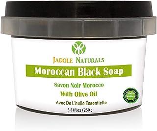 Jadole Naturals Moroccan Black Soap With Olive Oil, Beldi Soap,250 ml