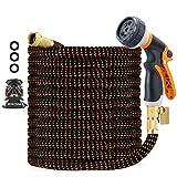 100ft Garden Hose, Expandable Leakproof, Durable Lightweight, Flexible Expanding, Double Latex Core,...