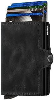 Twinwallet Vintage Black Leather Wallet
