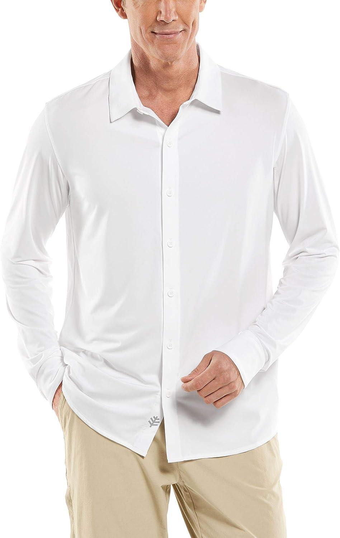 Coolibar UPF 50+ Men's Vita Button Down Shirt - Sun Protective