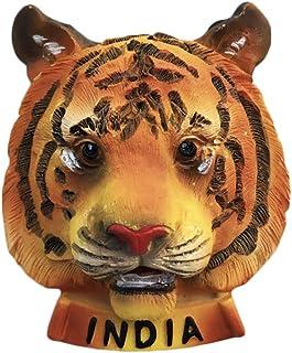 Tigre de Bengala 3D India Imán de refrigerador Recuerdos de Viaje turístico Resina Hecha a Mano Artesanía Pegatinas magnéticas Decoración de la Cocina del hogar Colección