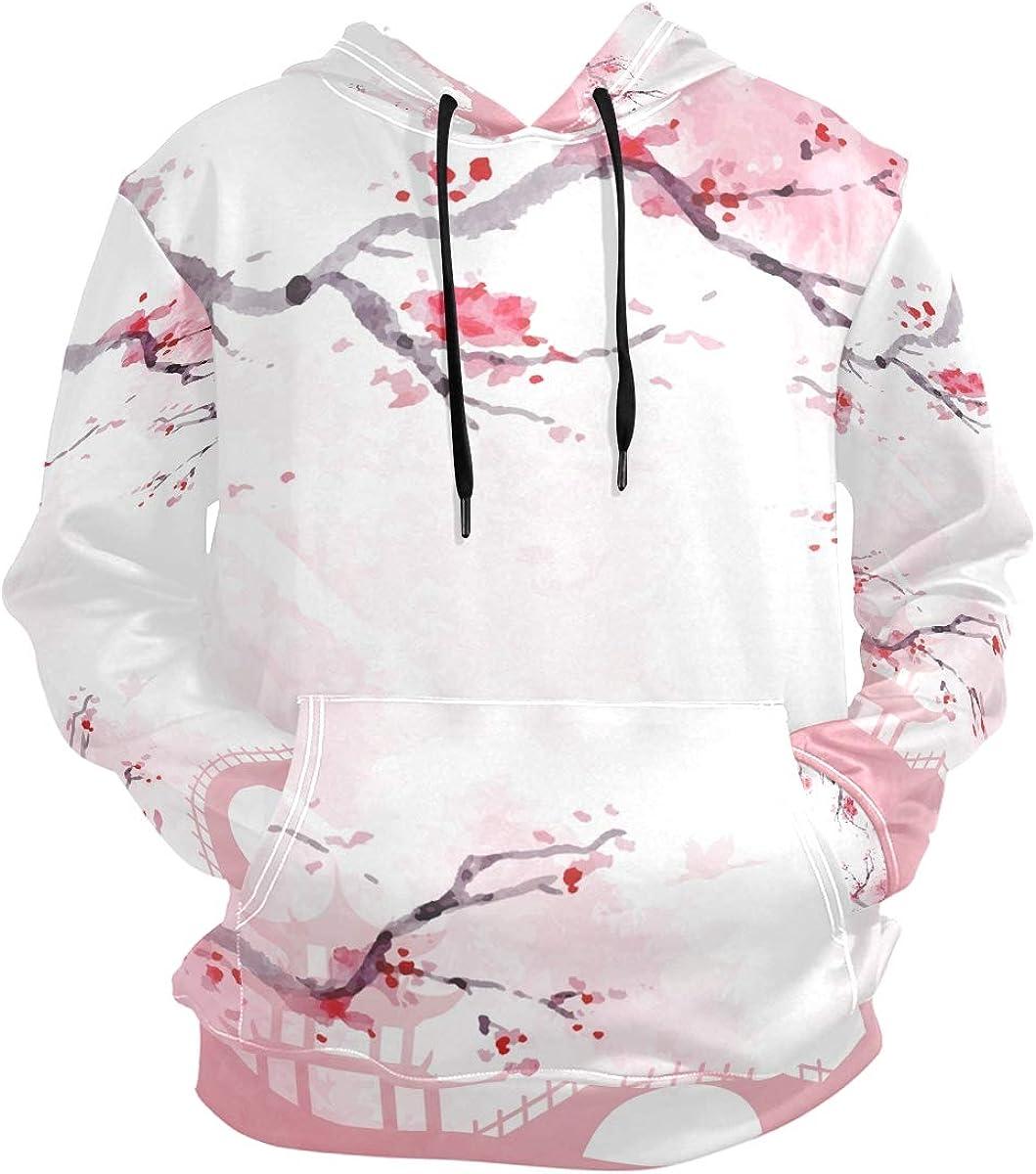 Nander Hooded Sweatshirts Japanese Cherry Blossom Unisex Men's P