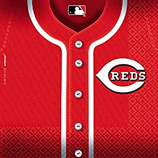 LicensedMLB Cincinnati Reds Party Luncheon Party Napkins Tableware, 36 Pieces, Made from Paper by Amscan