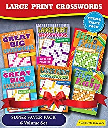 KAPPA Super Saver LARGE PRINT Crosswords Puzzle Pack-Set of 6