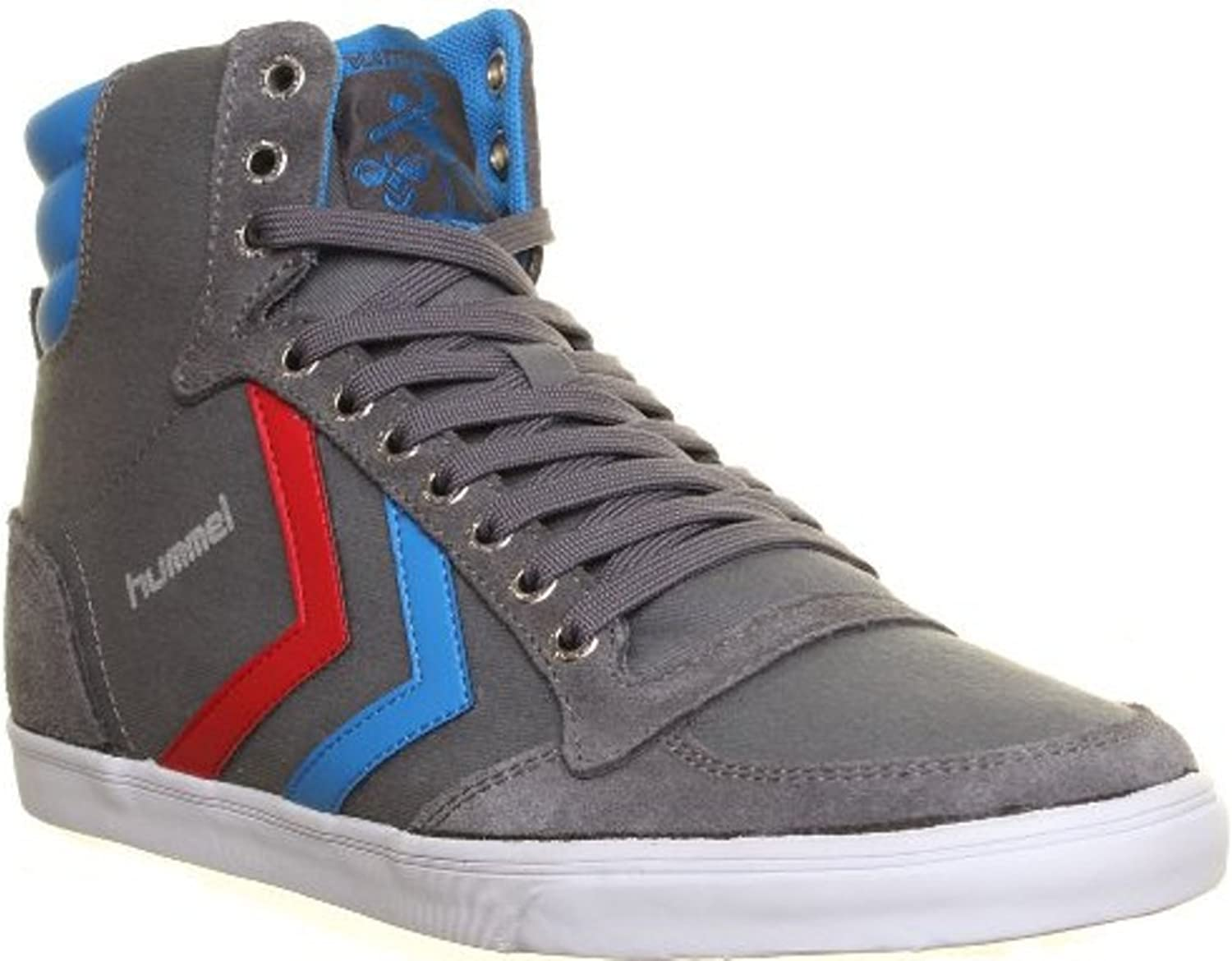 Hummel Slimmer Stadil Hi Top Unisex Canvas Trainers Lace Up Running