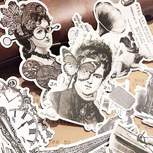 PMSMT 16pc Vintage Lady Stickers niños DIY Scrapbooking Diario Craft Mariposa Pegatinas Decorativas Paquete DIY álbumes de Fotos