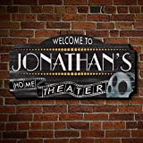 Film Reel Personalized Vintage Home Theater Wall Art for Movie Lovers (Custom Product)