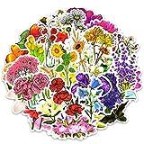 Adesivi a forma di fiore, 50 adesivi in vinile impermeabili per computer portatile, auto, ...