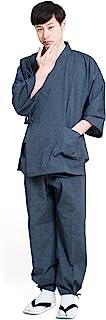 作務衣 メンズ おしゃれ 通年 日本製 綿 男性 無地 紬織 久留米 ギフト 六花/ROCCA