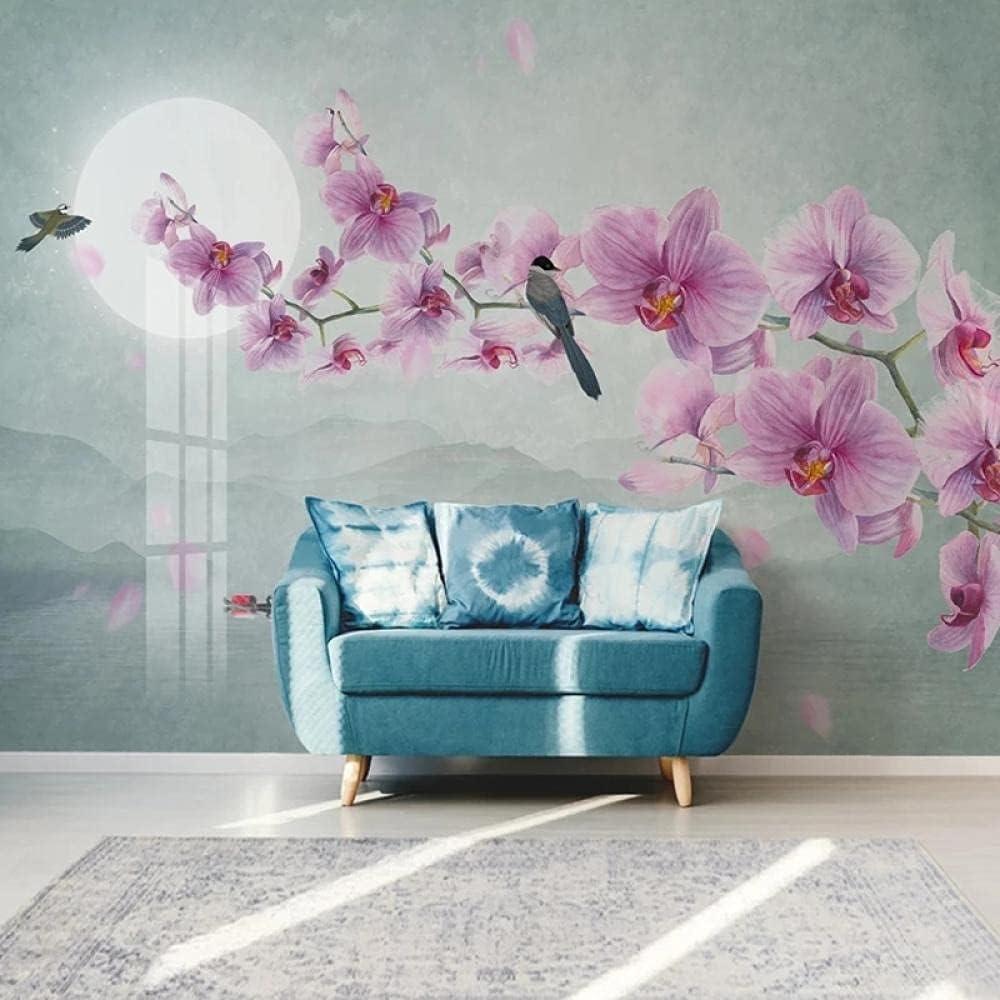 Custom Self-Adhesive Popular brand in the world Wallpaper Modern Flower B Hand-Painted SALENEW very popular! Bird