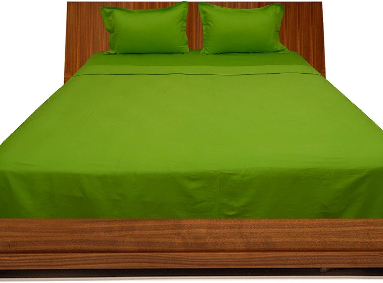 Laxlinens 250fils en coton égypcravaten 4pièces pour lit (+ 45,7cm) Extra profonde poche Euro Super King Taille, Parrouge Vert massif
