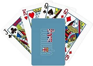 DIYthinker Bermuda Country Flag Name Poker Playing Card Tabletop Board Game Gift