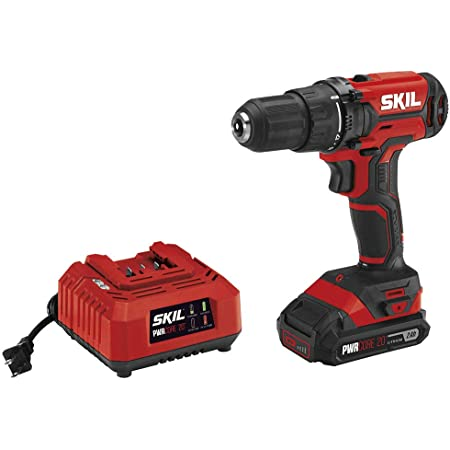 SKIL 20V 2-Tool Combo Kit: 20V Cordless Drill Driver and Circular Saw Includes 2.0Ah PWR CORE 20 Lithium Battery PWRAssist 20 USB Charging Adapter and Charger CB739301
