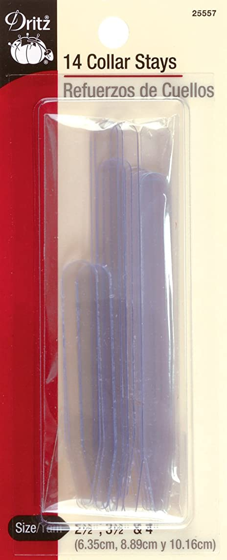 Dritz 25557 Collar Stays, Assorted Sizes (14-Count)