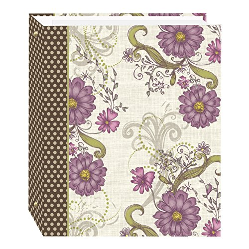 small 3 rings, 100 pages (50 sheets), magnetic self-adhesive photo album with berry flower pattern