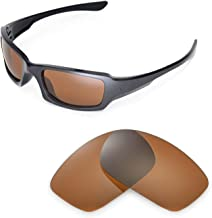 Walleva Replacement Lenses for Oakley Fives Squared Sunglasses - 18 Options Available