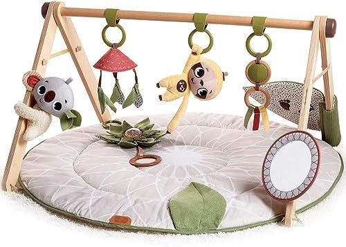 Tapis d'Éveil Tiny Love Boho Chic, Tapis de Jeu pour Bébé, Arche de Jouets en Bois, Dès la Naissance