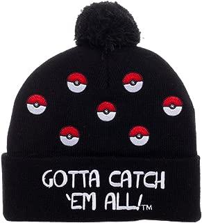 Pokeball Cuff Pom Beanie Winter Hat
