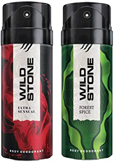 Wild Stone Mens Deodorant Ultra Sensual And Forest Spice Combo Pack 2 (150 ML)
