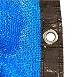 Sonnenschutznetz, 85% Sunblock Shade Tuch, Greenhouse Blue Shade Net, UV-beständiges Netz for Pflanzendecke/Patio/Garten/Pergola/Carport (Size : 6m x 9m)