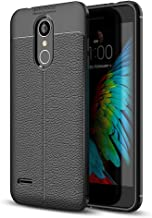 Mobile phone case For LG K8 (2018) Litchi Texture Soft TPU Protective Back Cover Case (Black) (Color : Black)
