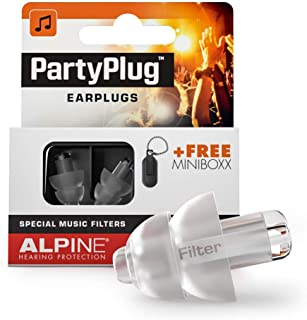 Alpine PartyPlug Ear Plugs for Loud Music Environments, Clear