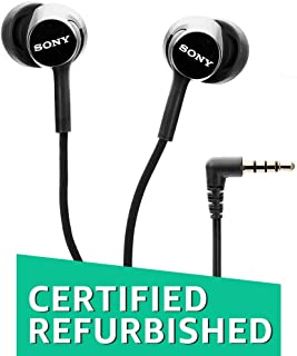 (Renewed) Sony MDR-EX155AP in-Ear Headphones with Mic (Black)