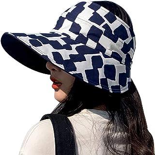 قناع الشمس ذو وجهين قابل للطي حافة واسعة ذيل الحصان قبعات الصيف حماية من الأشعة فوق البنفسجية للنساء