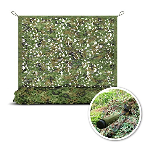 Camo Netting, Camouflage Mesh Netting for Hunting Blinds, Woodland Military Mesh Perfect Camonetting for Camping Shooting Hunting, Military Themed Party Decoration Sun Shade Outdoor