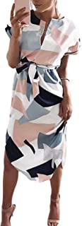 YOINS Sommerkleid Damen Lang V-Ausschnitt Maxikleider für Damen Kleider Strandkleid Strandmode