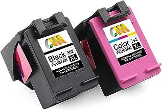 CMCMCM Remanufactured HP 302 302XL Cartucho de Tinta Para Envy 4527 4520 4523 4524 DeskJet 3630 2132 2130 3636 3637 3634 OfficeJet 3831 4658 4650 3830 Impresora, Negro & Colour