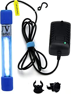 UVC Wand Waterproof/Timer Control /7-inch 7watts Ultraviolet Light Lamp 110v Input 6ft Cord (UVC Without Ozone)