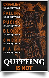 Family Gifts Inspirational Brother Samurai Warrior Posters - The Virtures of Bushido Samurai - Crawling-Falling-Puking-Blood-Sweat-Pain is Acceptable - Perfetc Birthday Xmas Gift for Men Boys Friends