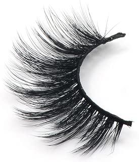 Arison Lashes 3D Silk Fiber False Eyelashes Soft Long Faux Mink Eyelashes 1 Pair Package (D28)