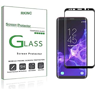 RKINC for Samsung S9 Plus Screen Protector, [1 Pack] Full Coverage Tempered Glass Clear Screen Protector [9H Hardness][3D ...
