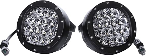 1Pair 5 Inch Round Led Driving Light 80W 8000LM Front Bumper Grille Guards Spotlights for Offroad Jeep Wrangler JK TJ YJ Ford Toyota Pickup 4WD 4X4 ATV SUV Boat Truck Bulldozer Excavator Forklift