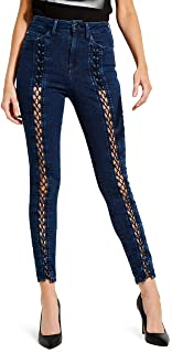 Guess Women's Lace Up Super High Rise Jean